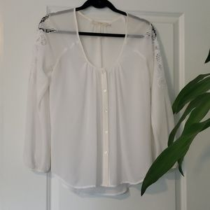 Cluny white sheer top